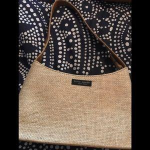 Katie Spaide tan shoulder bag